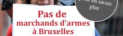 Journée d'actions : pas de marchands d'armes à Bruxelles